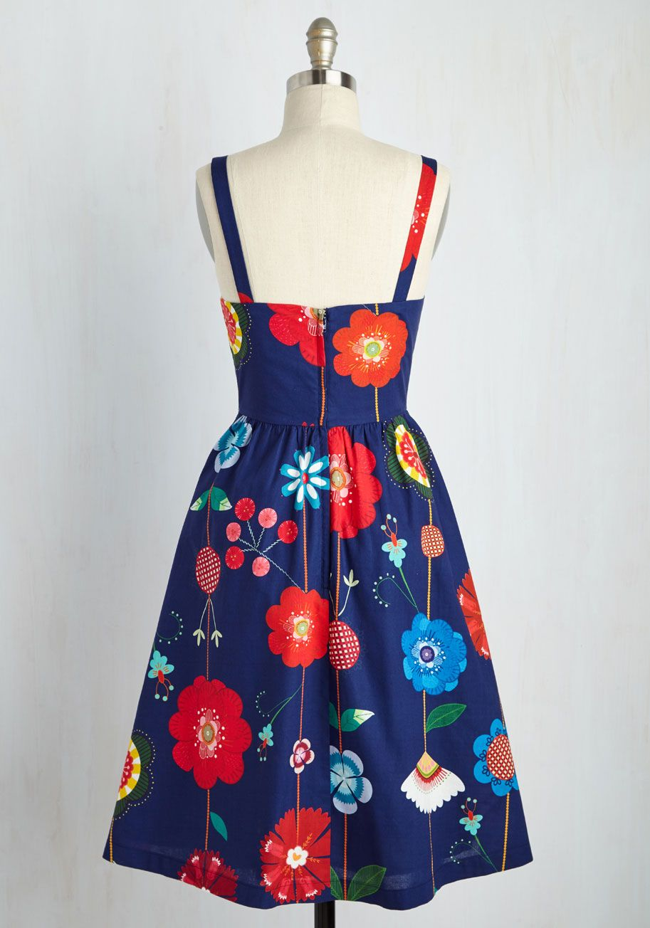 Fittingly Serendipitous Dress. Youre no stranger to fateful fashion finds, and this navy blue dress is consistent with your luck. #multi #modcloth