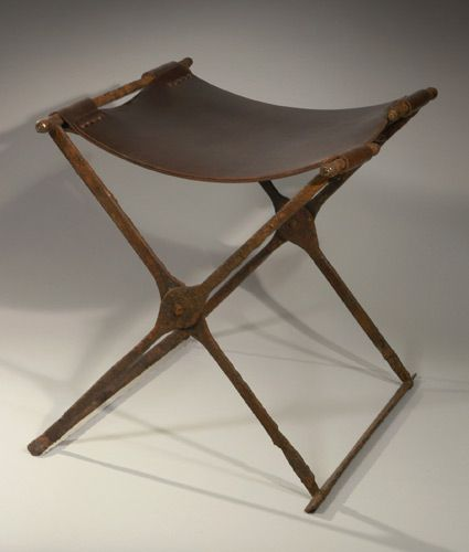 This Sella Curulis Is Made Of Wood And Designed To Fold The Legs