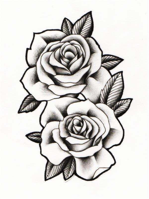 Roses to Print Malvorlagen Tattoo realistisch Stoffmalerei  realistische Rosendesigns  tattoos