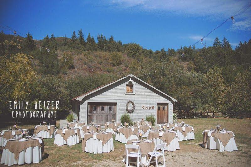Exceptionnel Round Tables Add Elegance. Radonich Ranch Wedding In Los Gatos California