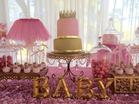 Pink And Gold Baby Shower Decorations Pink Tutus Princess