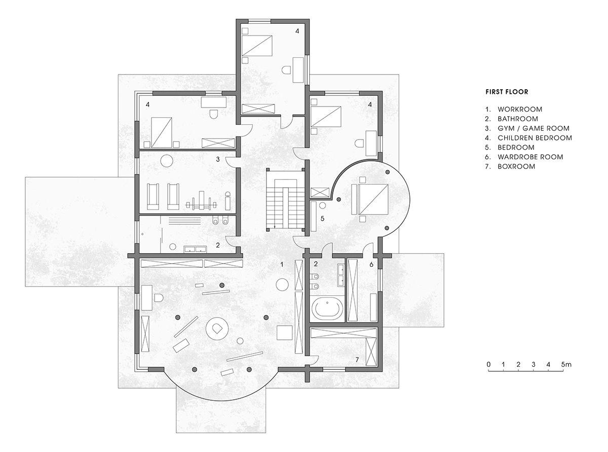 Geometric Villa On Behance Architecture Design Concept Home Design Floor Plans Facade Architecture
