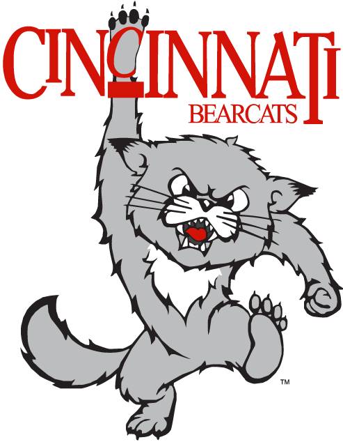 Cincinnati Bearcats Alternate Logo 1990 A Stomping Cat Hanging