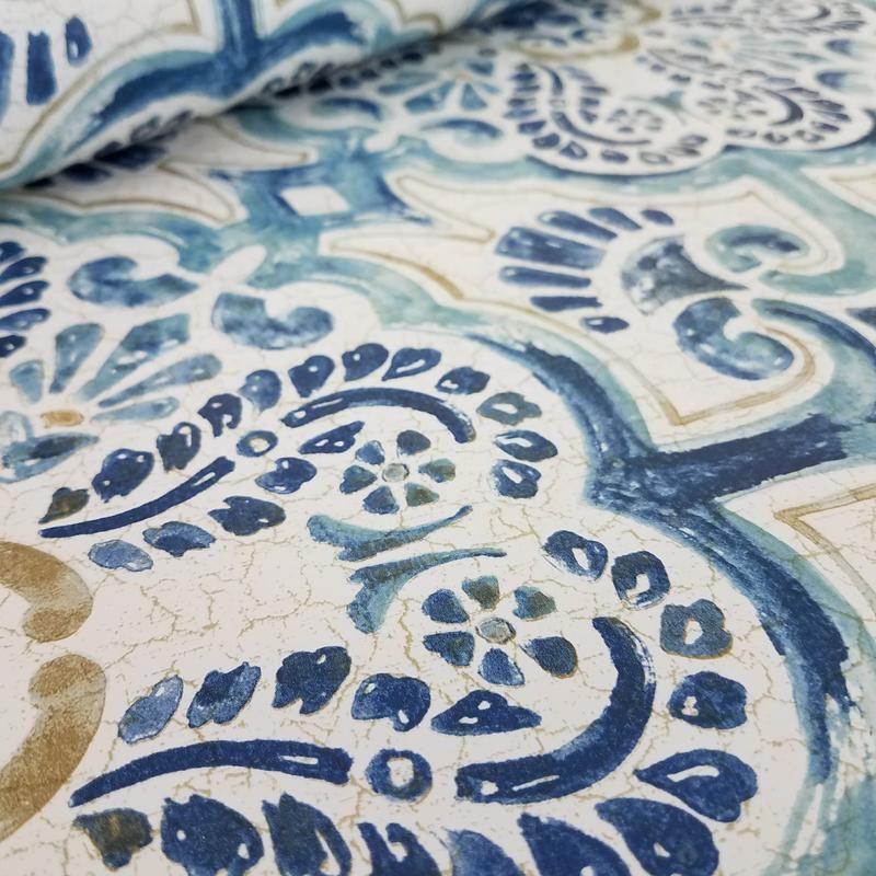 Wallpops Blue Florentine Medallion Tile Wallpaper Tile Wallpaper Blue Medallion Wallpops