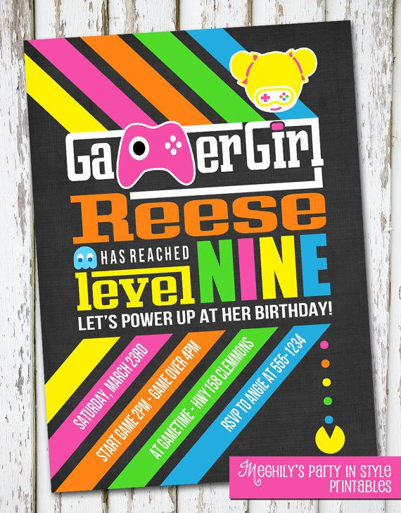 Video Game Birthday Invitation Shopkins Party Pinterest - Birthday invitation video