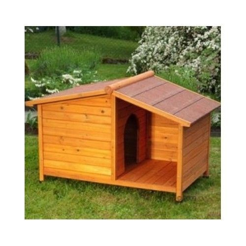 Wooden Dog Kennel Winter Warm House Weather Proof Shelter Outdoor