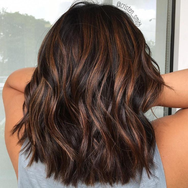 Rich chocolate hair with copper-colored reflections #HairColorIdeas – #haircolor…