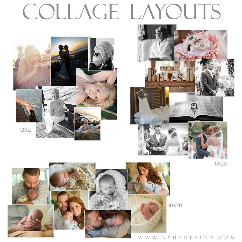 Photoshop Collage Layouts (12x12,16x20,10x20) - Simply Stated ...