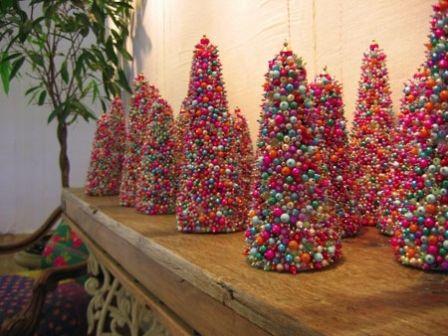 Beaded Trees Christmas Crafts Xmas Crafts Christmas Diy