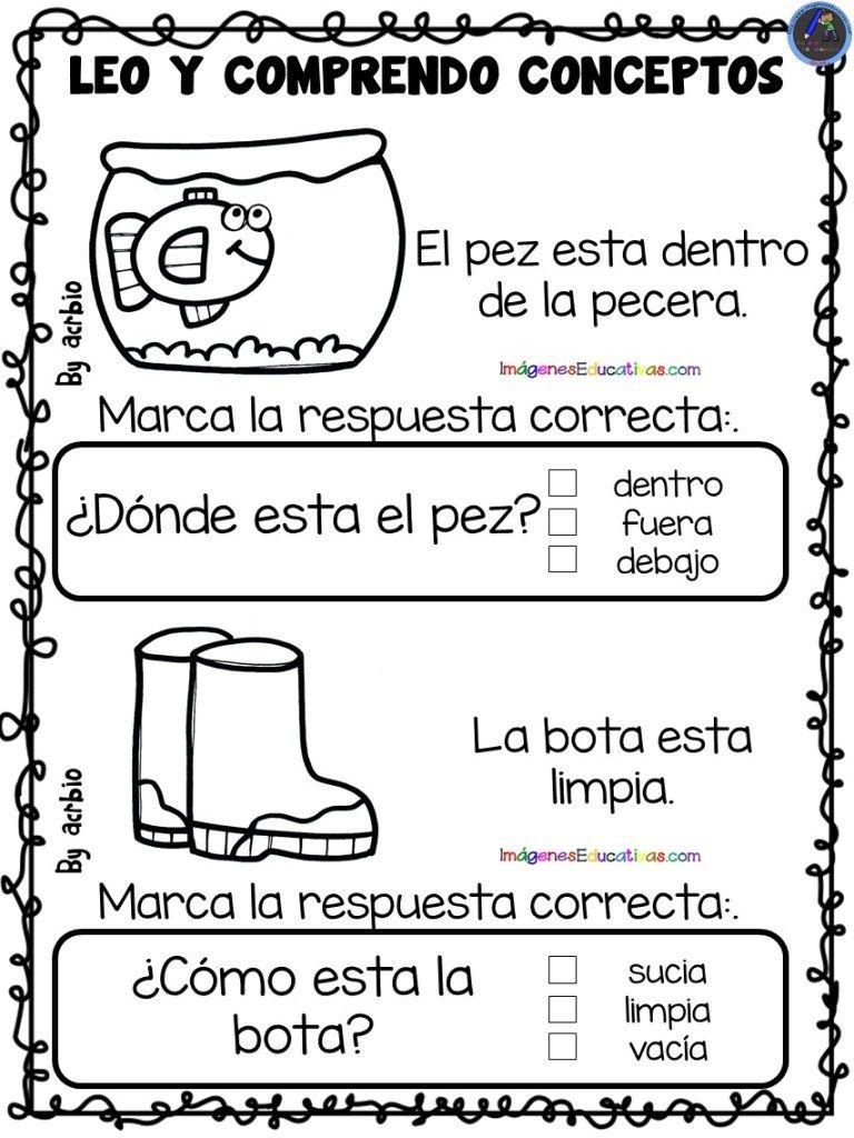 Leo Y Comprendo Conceptos 1 Lectura De Comprension Actividades De Lectura Preescolar Lectura Y Escritura