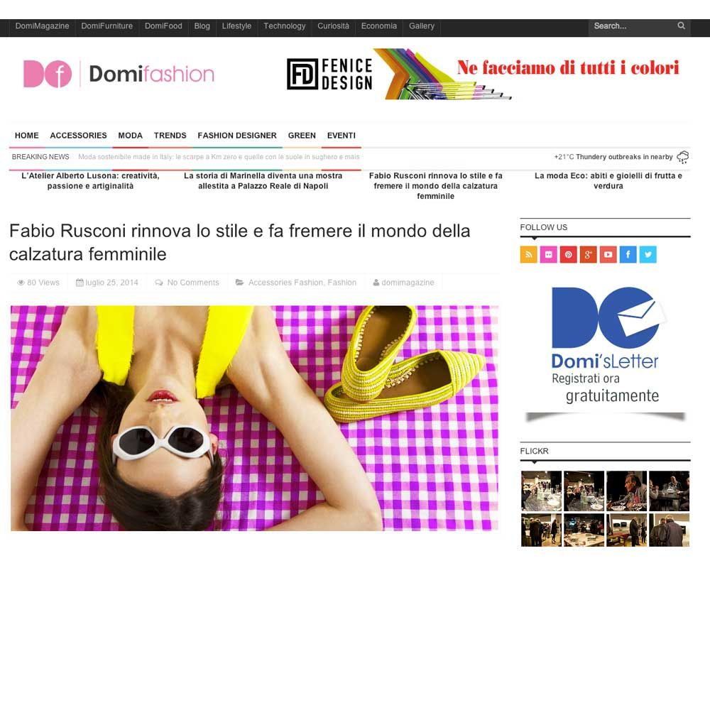 This week #FabioRusconi is on DomiMagazine, the Made in Italy's symbol in the World Wide Web! Read the inspiring article (http://bit.ly/1qf9Zg9) and don't miss our #SS2014 collection NOW on #SALE --> http://bit.ly/1rMvsBB!  #MadeInItaly #onlineSales #Shoes #Style #Outfit #Stiloso #WeLoveIt #LoVoglio! #Elegance #Fashion