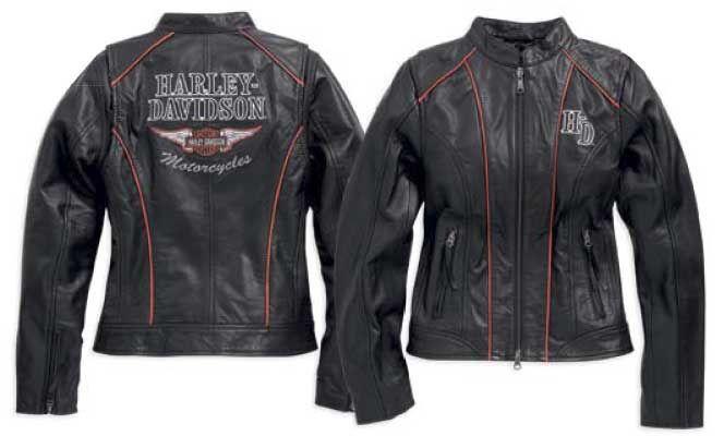 Lederjacke Harley Davidson, Damenmode. Kleidung gebraucht