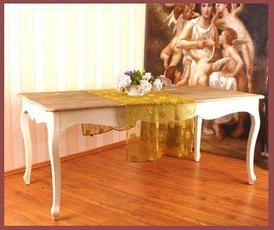 esstisch esszimmer tisch shabby chic vintage holz weiss. Black Bedroom Furniture Sets. Home Design Ideas