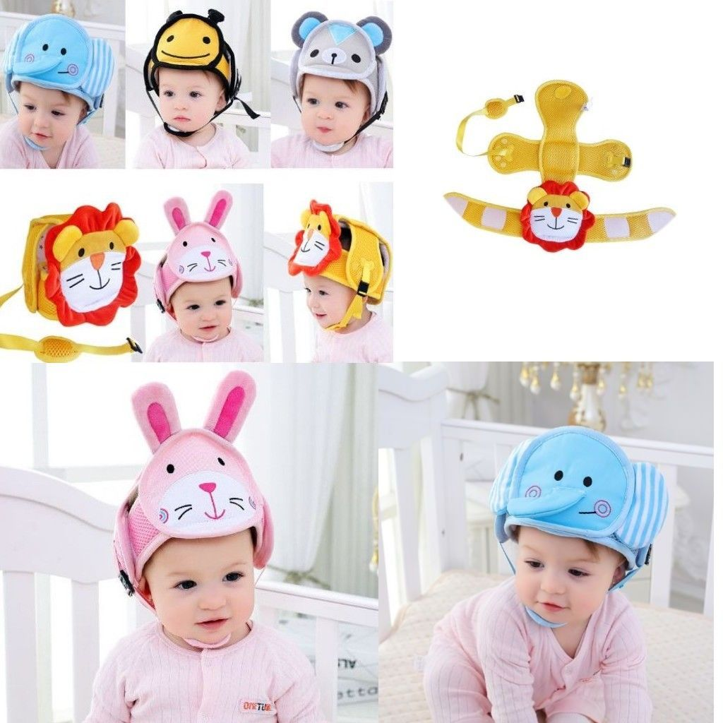 Infant Adjustable Baby Toddler Safety Helmet Hat Head Protection Cartoon