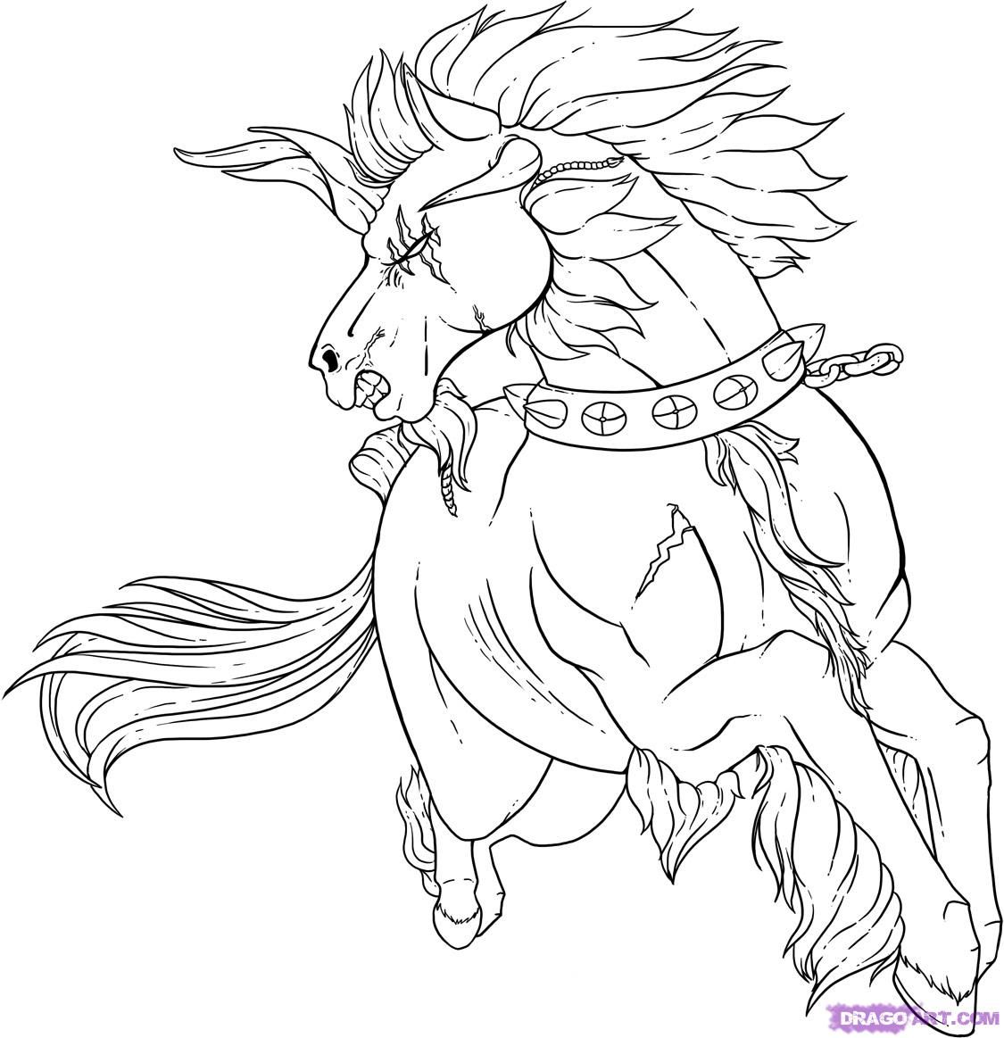 How To Draw A Horse Step By Step Step By Step Tattoos Pop Culture Free Online Drawing Tutorial Added By Dawn June 13 2009 8 10 14 Pm
