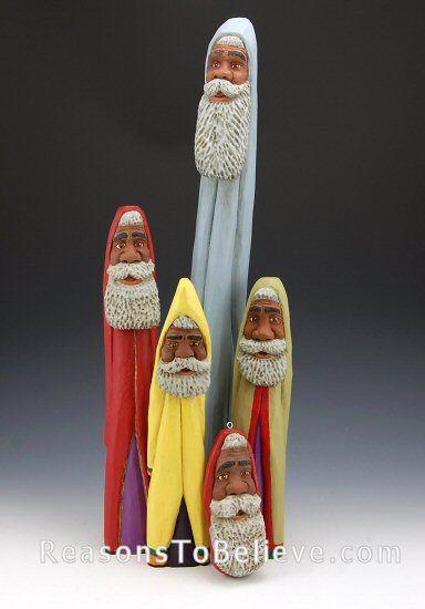 Black Pencil Santas.  Sold Out-unavailable.