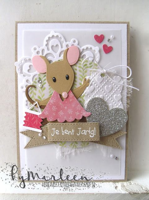 card critters mous mice Marianne design mice die