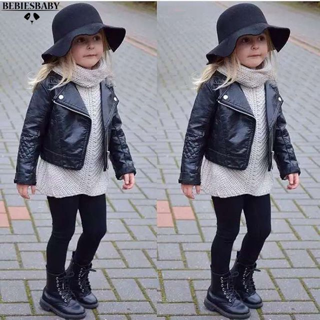 Baby Kids Girls Leather Jacket And Spring Coats Boys 7grx6wT7