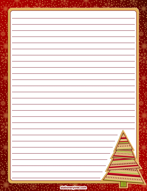 Christmas letter writing paper