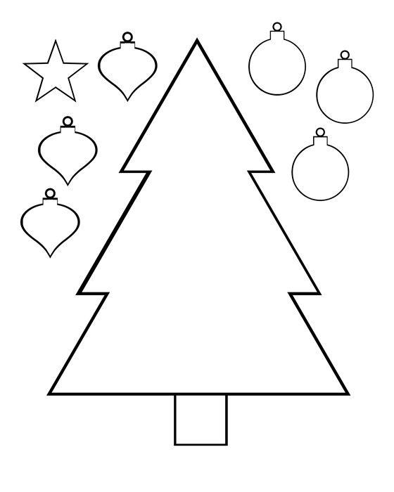 christmas tree color and cut printable activity page Choinka
