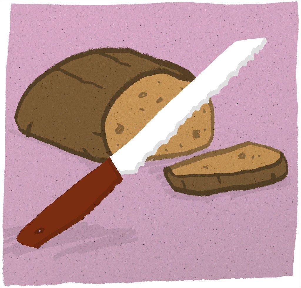 Knife & bread