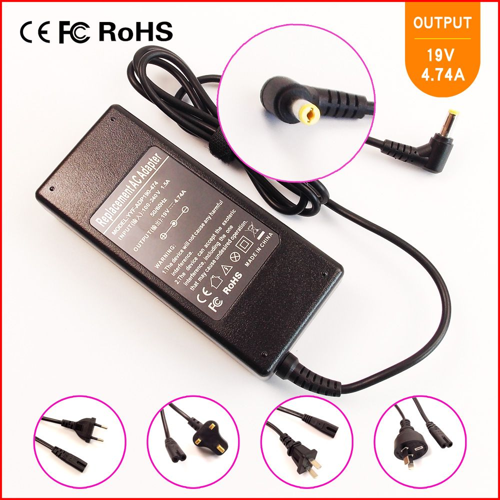 19v 4 74a Laptop Notebook Ac Power Adapter Charger For Acer Aspire 5560 5600 5601 5602 5610 5612 5613 5620 56 Notebook Laptop Laptop Accessories Laptop Adapter