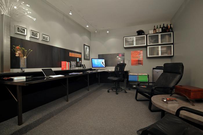 Long desk New Office Ideas Pinterest Desks Workspaces and