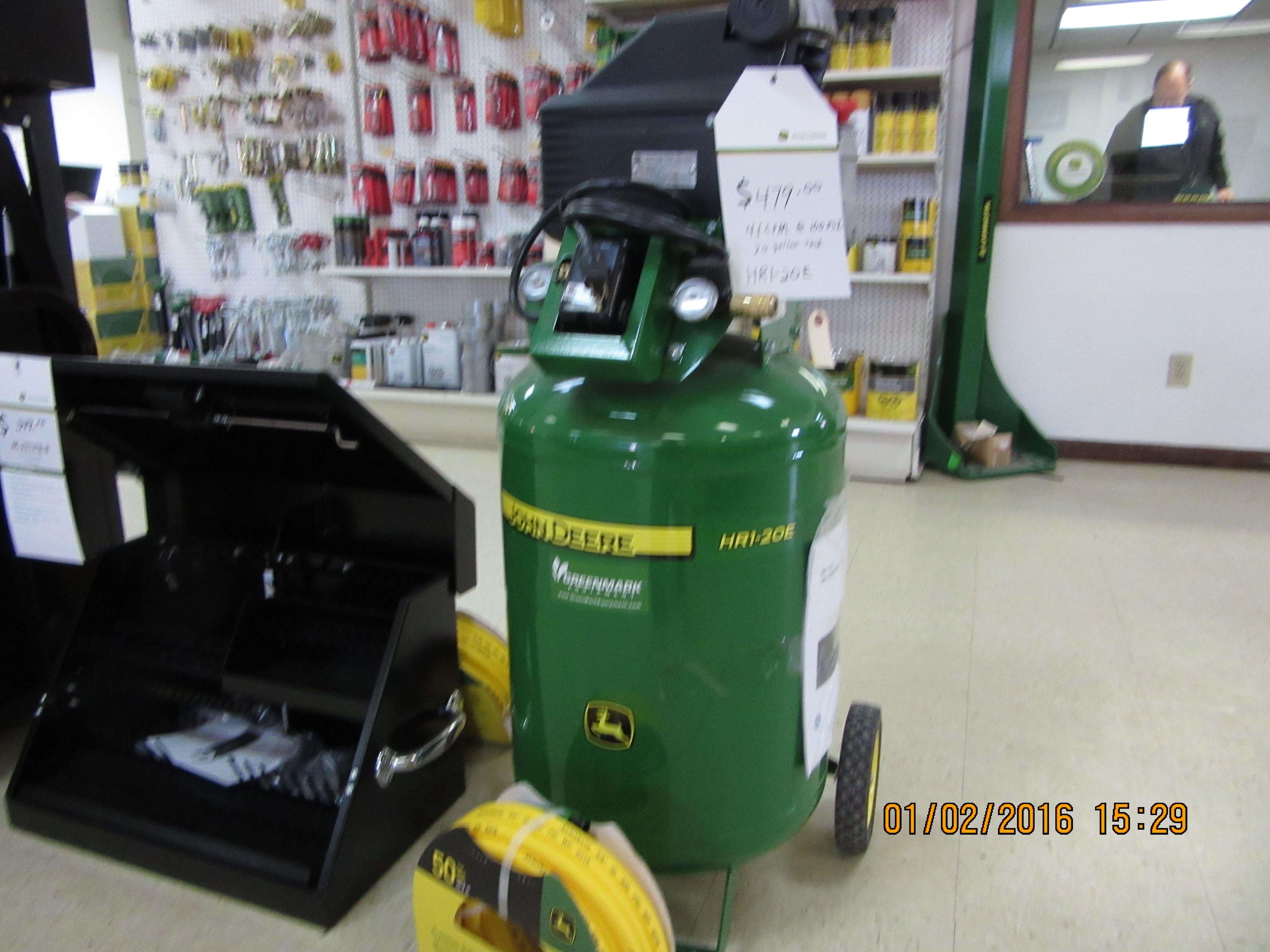 John Deere Air Compressor Ebay >> John Deere Hr1 20e Air Compressor Inside Greenmark Equipment John