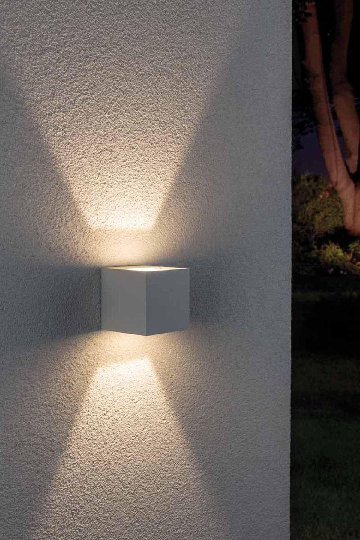 Wandaufbauleuchte Cybo Weiss 8x8cm Kaufen Aussenleuchten Beleuchtung Balkon Beleuchtung