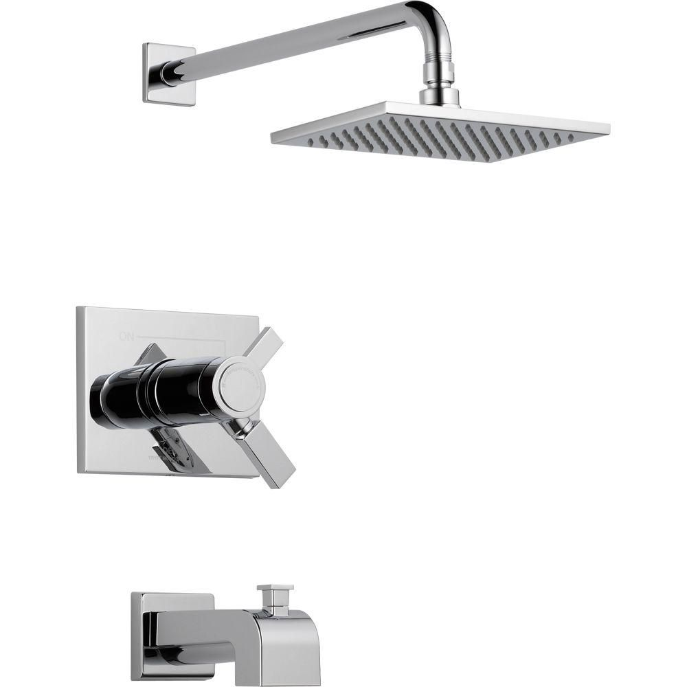Delta Vero TempAssure 17T Series 1-Handle Tub and Shower Faucet Trim Kit Only in Chrome (Grey) (Valve Not Included)