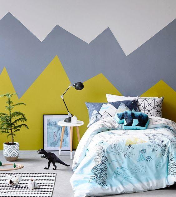 Makeover Kamar Tidur Sederhana  15 kombinasi warna cat kamar tidur kombinasi cat kamar tidur