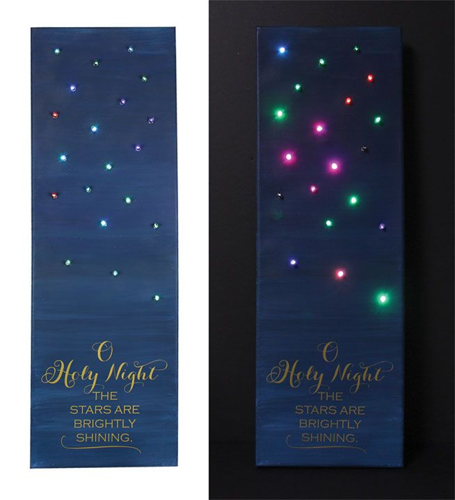 Oh Holy Night Lighted Canvas