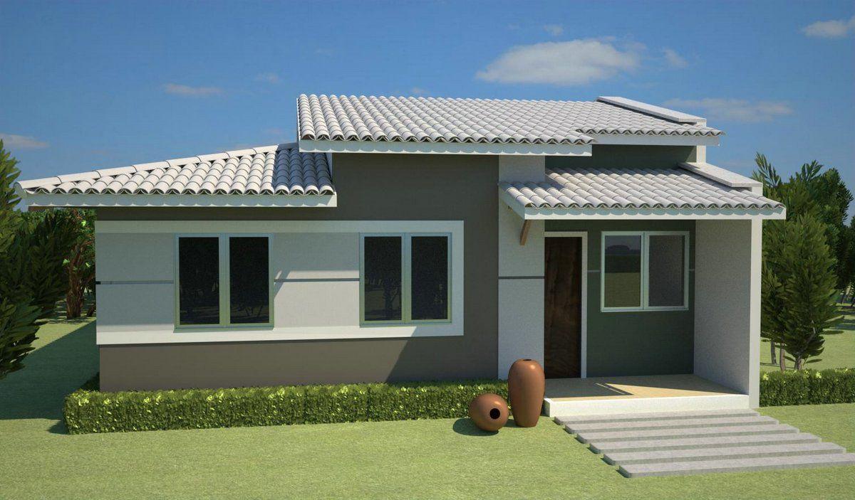 27 modelos de frentes de casas simples e modernas frente for Ver modelos de casas pequenas