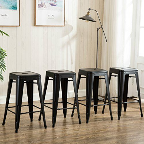 26 Inch Backless Metal Counter Height Bar Stools Set Of Https Www Amazon Com Dp B01k6zz Backless Bar Stools Kitchen Bar Stools Counter Height Bar Stools