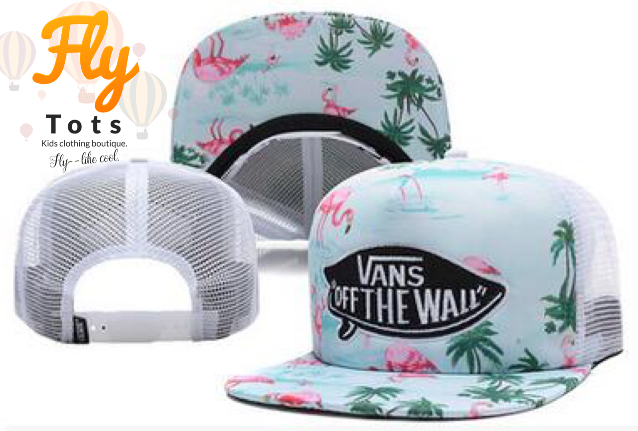 46fcdaeaf2dc5 Van's Of The Wall Tropical Blue Fly Tots Trucker Hat | hats