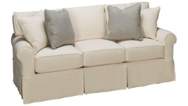 Rowe Nantucket Queen Sleeper Sofa W Slipcover 1 899 84 L X 40 D 36 H Sunbrella Soy Based Foam Cushions 6 Innerspring Mattress