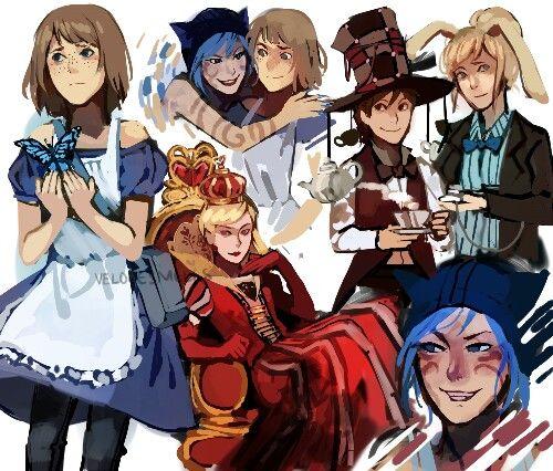 Life is Strange Alice in Wonderland AU!