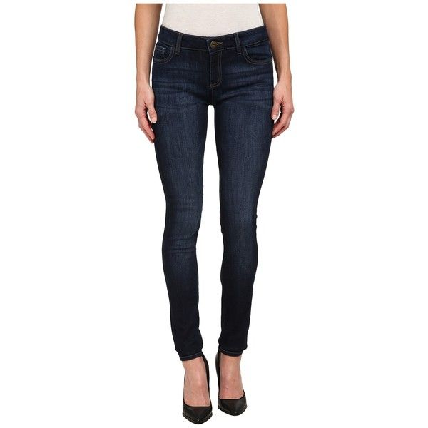 DL1961 Danny Instasculpt in Pulse Women's Jeans ($178) ❤ liked on Polyvore featuring jeans, bib overalls, blue bib overalls, slim skinny jeans, mid rise skinny jeans and overall
