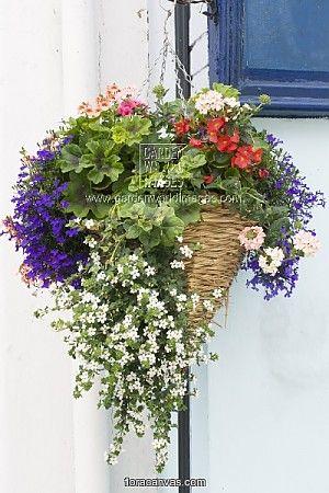 Artificial Plants Outdoor Hanging Baskets