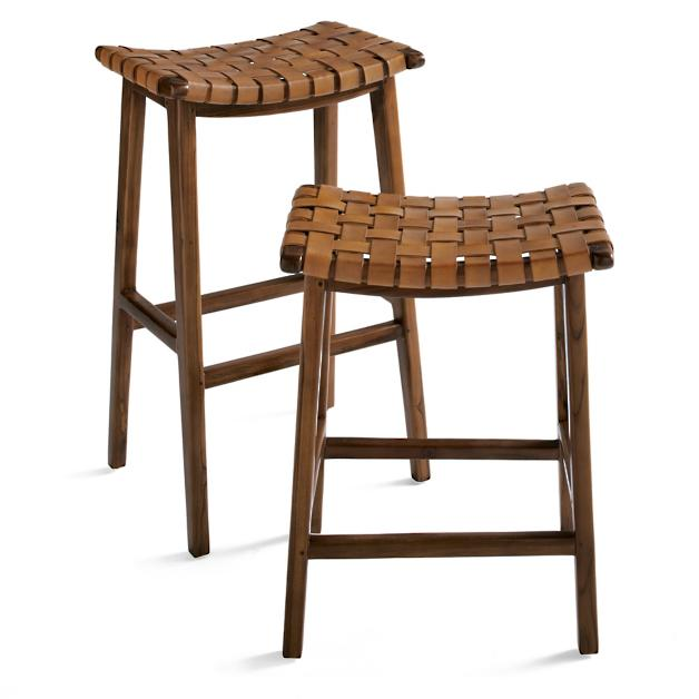 Augusto Backless Bar Counter Stool Counter Stools Counter Stools Backless Leather Counter Stools