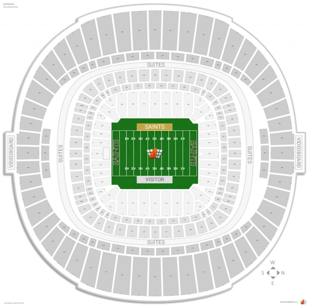 Superdome Seating Chart Saints