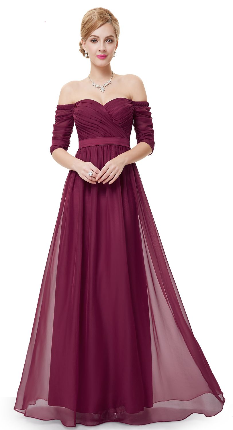 Strapless half sleeve long vintage eveningparty dressprom dress