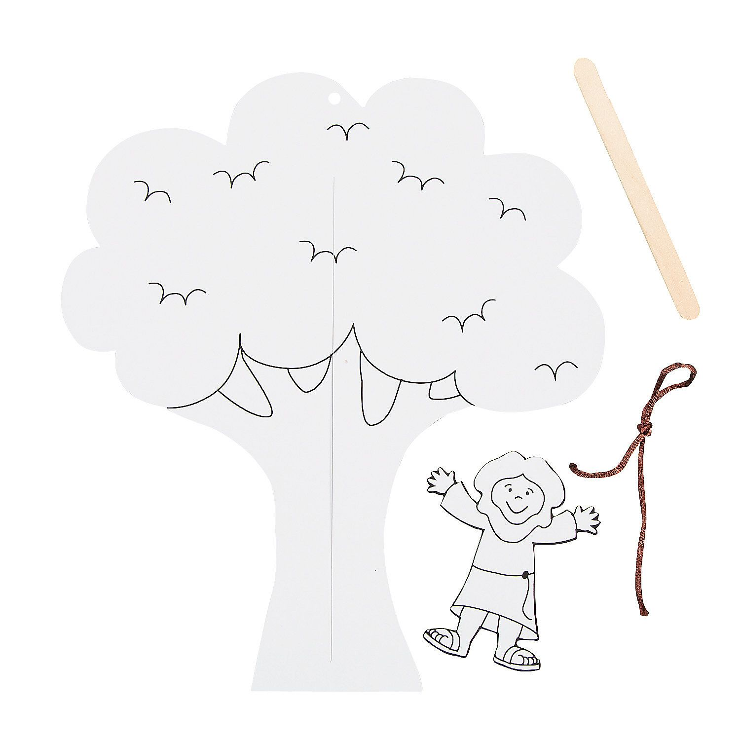Zacchaeus Puppet Template Printable - completeseven