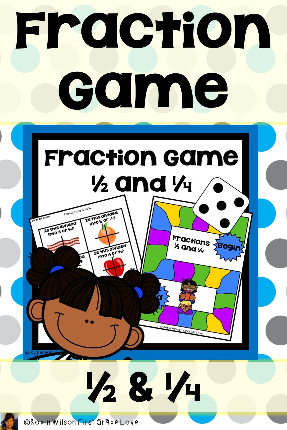 Fractions Halves And Fourths Game