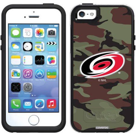 Carolina Hurricanes Traditional Camo Design on OtterBox Symmetry Series Case for Apple iPhone 5/5s
