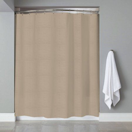 Home Fabric Shower Curtains Embossed Fabric Striped Shower