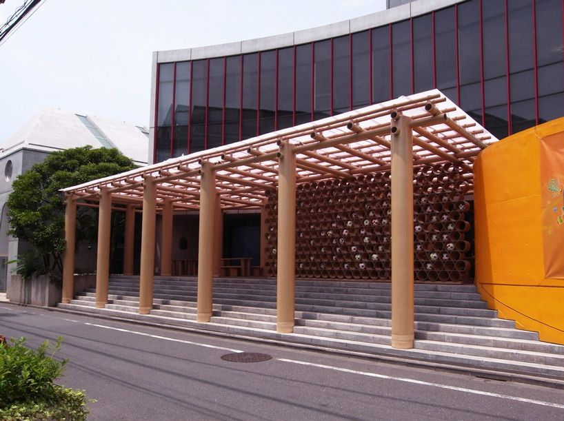 world cup pavilion by shigeru ban at the brazilian embassy in tokyo