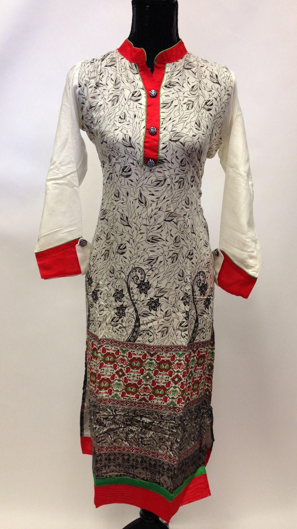 Long printed rayon kurta indian women tunic top kurti