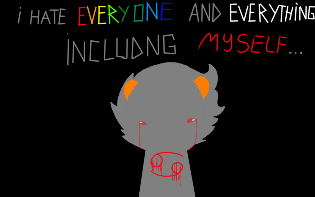 sadstuckkarkat by hsfan4evar you cant fight it