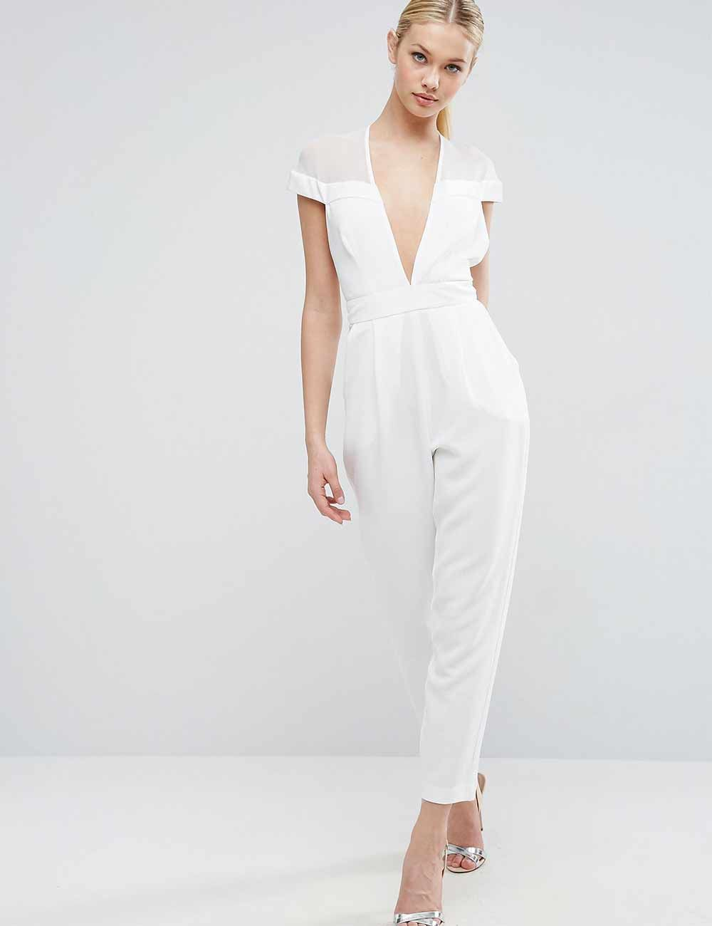 660abaefdd Wedding Jumpsuits That Stylish Brides Will Love